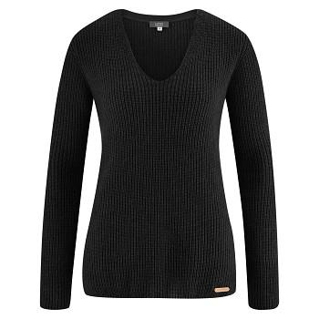 HORTENSE Dámský svetr z bio vlny a biobavlny - černá