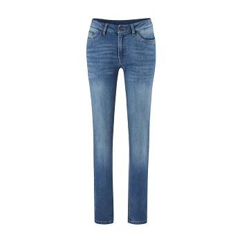 DONNA Dámské džíny z biobavlny - modrá mid indigo