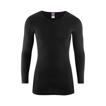 JOHAN Pánské tričko s dlouhými rukávy ze 100% biobavlny - černá