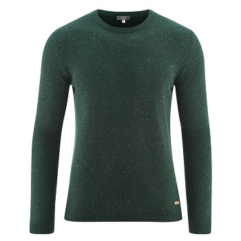 JASPER Pánský svetr ze 100% bio vlny - zelená forest