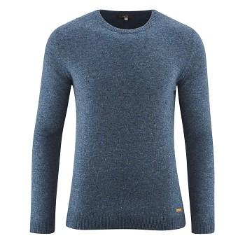 JASPER Pánský svetr ze 100% bio vlny - modrá mid