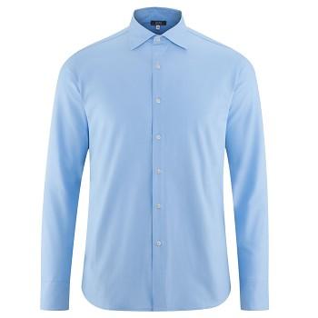 JOHN pánská košile ze 100% biobavlny - světle modrá