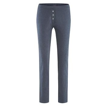 CAROL dámské pyžamové kalhoty ze 100% biobavlny - modrá navy melange