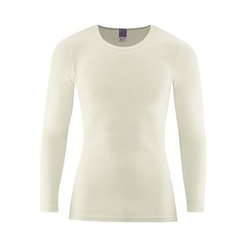 JOHAN Pánské tričko s dlouhými rukávy ze 100% biobavlny - přírodní