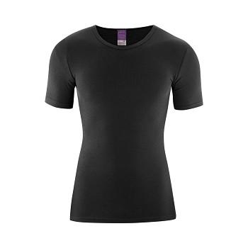 JACOB Pánské tričko s krátkým rukávem ze 100% biobavlny - černá