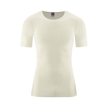 JACOB Pánské tričko s krátkým rukávem ze 100% biobavlny - přírodní