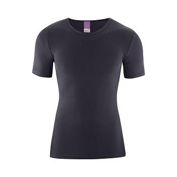 JACOB Pánské tričko s krátkým rukávem ze 100% biobavlny - šedomodrá navy graphite