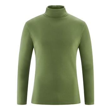 HELGE Pánské rolákové tričko ze 100% biobavlny - zelená cypress
