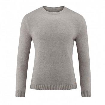 JOSUA Pánský svetr z vlny a biobavlny - šedá granite