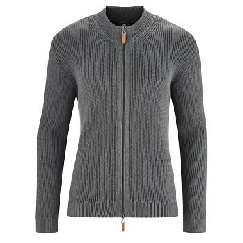 JAMIE Pánský svetr ze 100% biobavlny - šedá melange