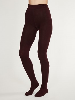 ELGIN dámské punčocháče z bambusu - fialová fig