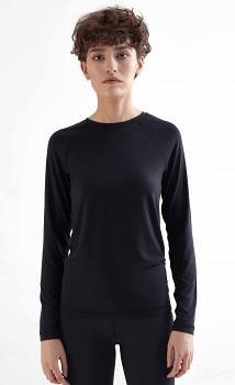 TRUENORTH W´S dámské triko s dlouhými rukávy z modalu - černá