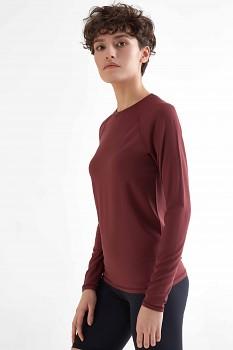 TRUENORTH W´S dámské triko s dlouhými rukávy z modalu - burgundy