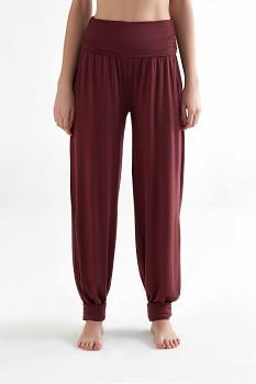 TRUENORTH W´S dámské kalhoty na jógu z tencelu - burgundy