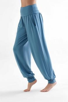 TRUENORTH W´S dámské kalhoty na jógu z tencelu - modrá atlantik