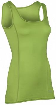 Dámský top z bio merino vlny a hedvábí - zelená lime