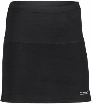 Dámská sportovní sukně z bio merino vlny a hedvábí - černá