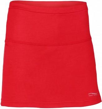 Dámská sportovní sukně z bio merino vlny a hedvábí - červená rosso