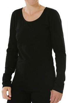 Comazo Earth Dámské tričko s dlouhými rukávy z biobavlny - černá