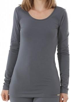 Comazo Earth Dámské tričko s dlouhými rukávy z biobavlny - tmavě šedá antracit