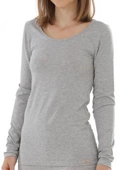 Comazo Earth Dámské tričko s dlouhými rukávy z biobavlny - šedá melange