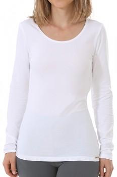 Comazo Earth Dámské tričko s dlouhými rukávy z biobavlny - bílá