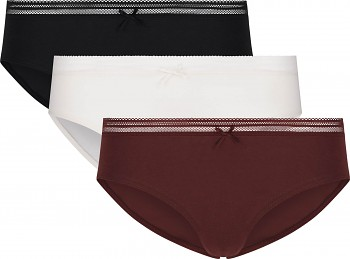 Comazo Earth Dámské kalhotky mini-slip černá/bílá/fialová (3 ks)