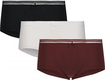 Comazo Earth Dámské kalhotky panty černá/bílá/fialová (3 ks)