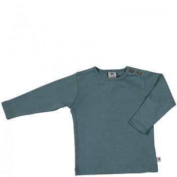 LANG dětské tričko ze 100% biobavlny - šedomodrá pigeon