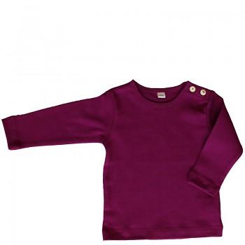 LANG dětské tričko ze 100% biobavlny - fialová orchidee