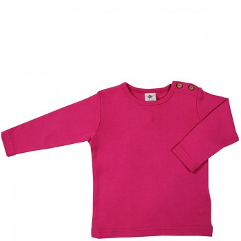 LANG dětské tričko ze 100% biobavlny - růžová