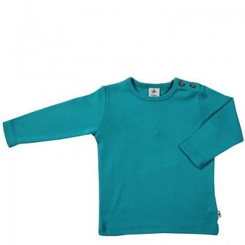 LANG dětské tričko ze 100% biobavlny - modrozelená lapiz