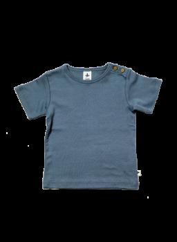 KURZ dětské tričko ze 100% biobavlny -  modrá holubí