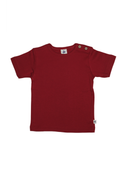 KURZ dětské tričko ze 100% biobavlny -  červená brick