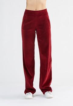 Albero dámské teplákové kalhoty ze 100% biobavlny - červená bordeaux