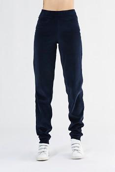 Albero dámské teplákové kalhoty ze 100% biobavlny - tmavě modrá
