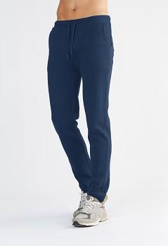 Albero pánské teplákové kalhoty ze 100% biobavlny - modrá indigo
