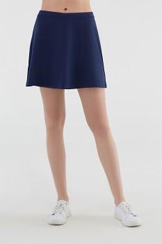 Albero dámská úpletová sukně z biobavlny - modrá navy