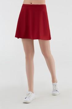 Albero dámská úpletová sukně z biobavlny - červená