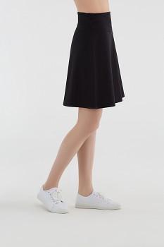Albero dámská úpletová sukně z biobavlny - černá