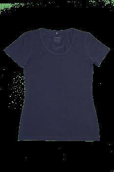 Albero dámské tričko s krátkými rukávy z biobavlny - modrá navy