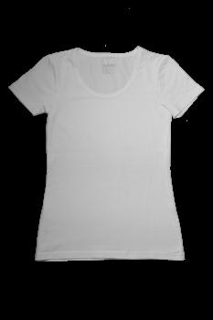Albero dámské tričko s krátkými rukávy z biobavlny - bílá