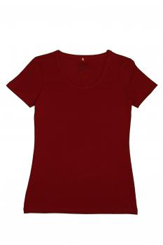 Albero dámské tričko s krátkými rukávy z biobavlny - červená