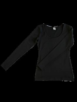 Albero dámský top s dlouhými rukávy z biobavlny - černá