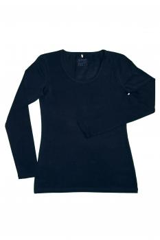 Albero dámský top s dlouhými rukávy z biobavlny - tmavě modrá navy