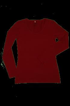 Albero dámský top s dlouhými rukávy z biobavlny - červená