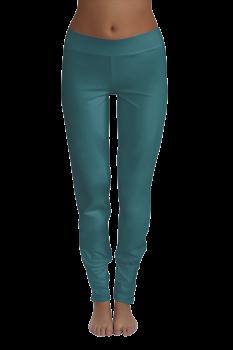 Albero dámské kalhoty na jógu z biobavlny - modrá tanne