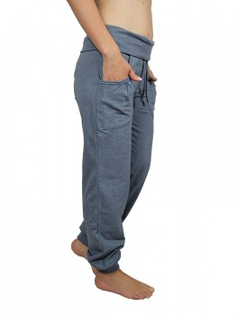 Albero dámské teplákové kalhoty z biobavlny - modrošedá navy melange