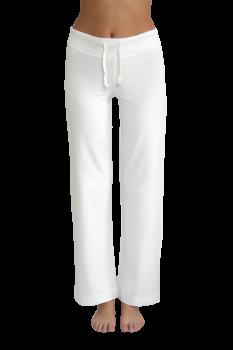 Albero dámské teplákové kalhoty z biobavlny - bílá