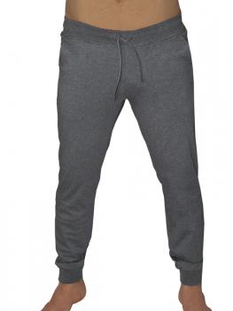 Albero pánské teplákové kalhoty z biobavlny - tmavě šedá antracit